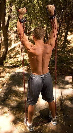 Resistance bands are a cheap and easy home gym solution.