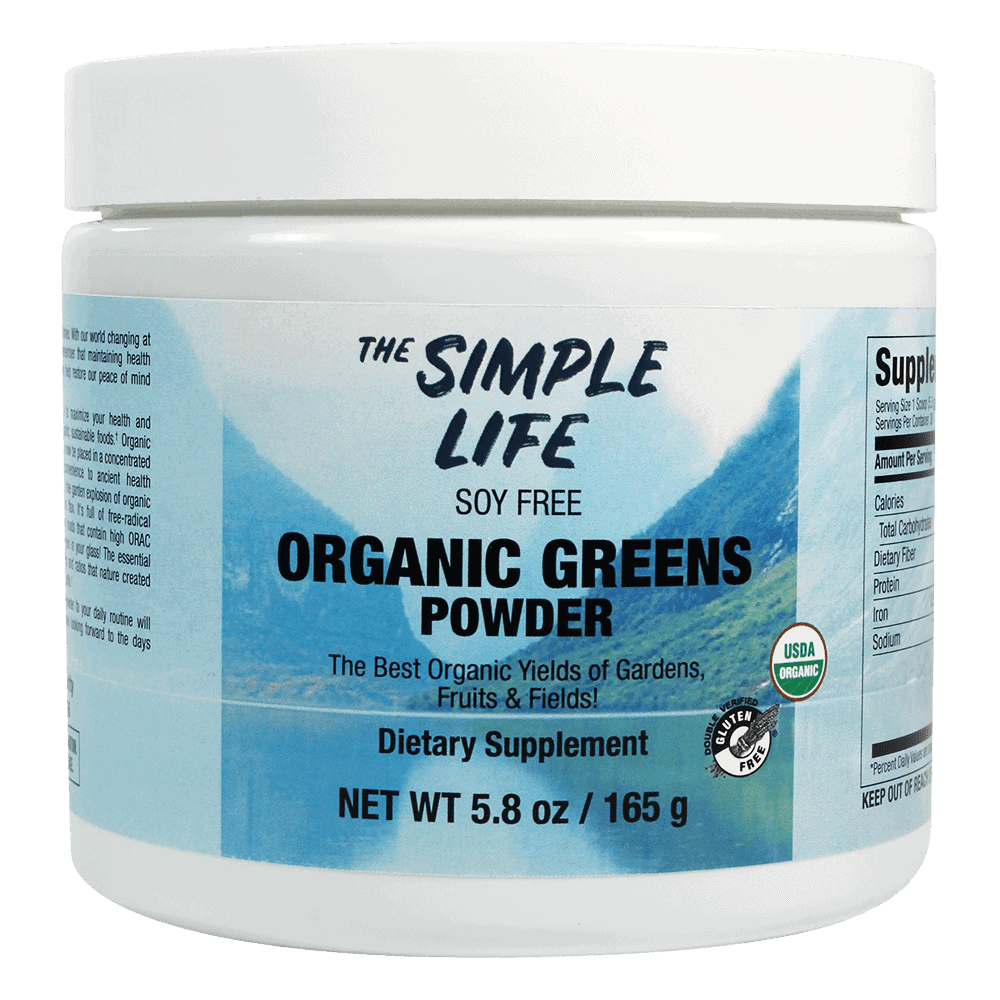 The Simple Life Organic Nutrient Dense Greens Powder