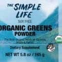 organic greens powder label