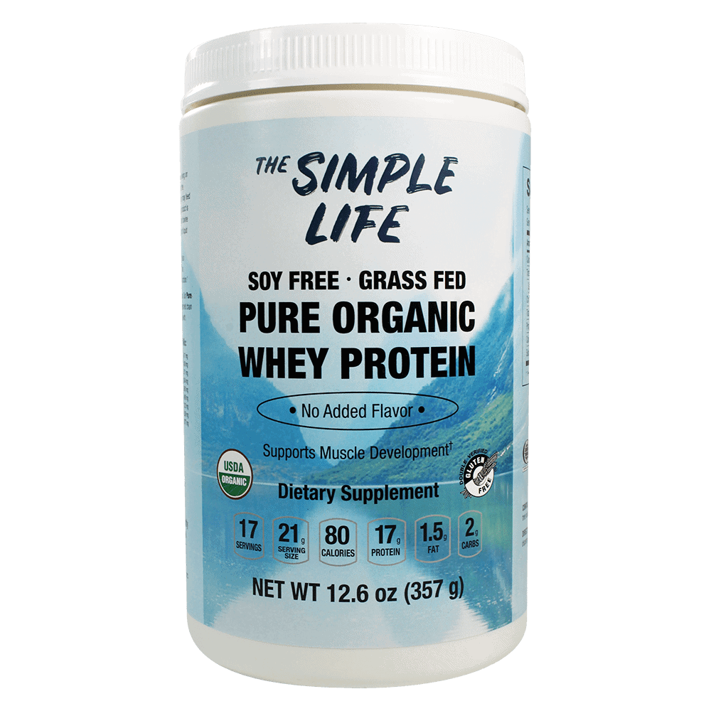 The Simple Life Pure Organic Whey Protein (Unflavored)