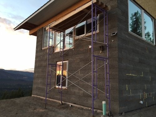 Gary's Off The Grid Project House Back