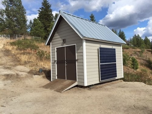 Primal Power Method Gary's Off The Grid Project Solar Power Shed