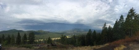 Panoramic view of my off the grid property