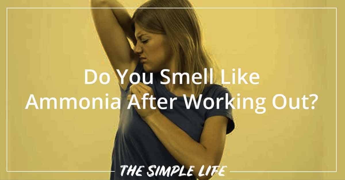 Do You Smell Like Ammonia After Working Out? – Here Is The Reason Why