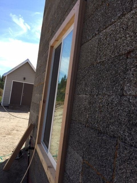 off grid project faswall windows