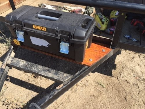 off grid trailer storage box