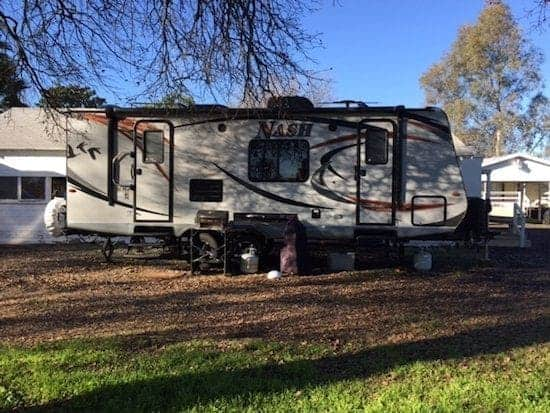 off grid travel trailer living