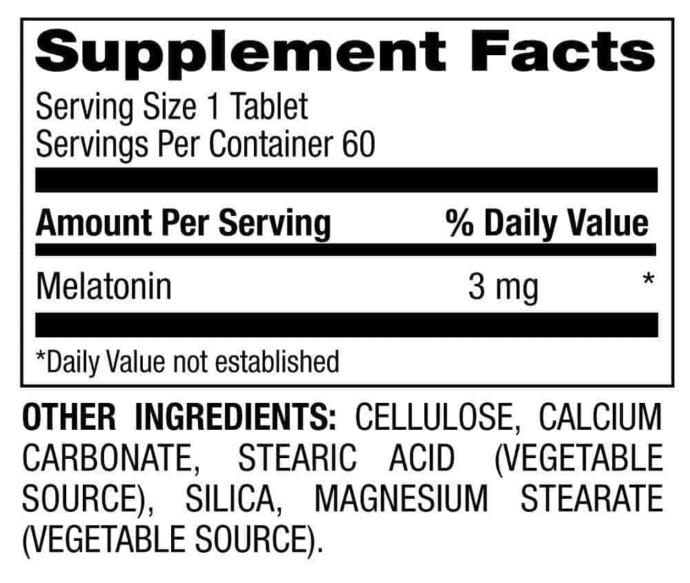 melatonin supplement facts