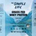 the simple life grass fed whey vanilla label